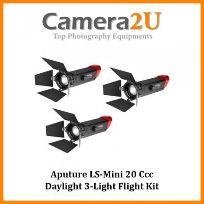 (Discontinues) Aputure LS-Mini 20 Ccc Daylight 3-Light Flight Kit
