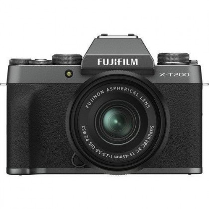 Fujifilm X-T200 Mirrorless Digital Camera 15-45mm Lens XT200 + 32GB+Bag (MSIA)