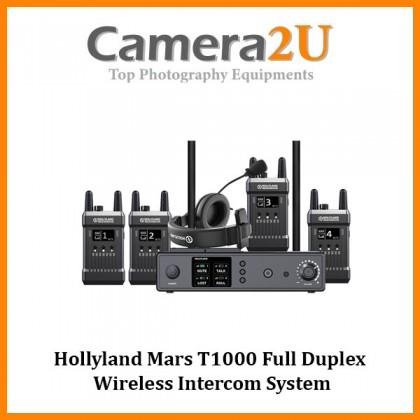 Hollyland Mars T1000 Full Duplex Wireless Intercom System (1 Base Station and 4 Beltpacks)