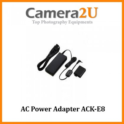 AC Power Adapter ACK-E8 Direct Power for Canon EOS 700D 650D 600D 550D