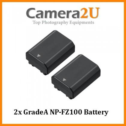 2x GradeA NP-FZ100 Battery for Sony A7R Mark MK 3 III A7 Mark MK 3 III