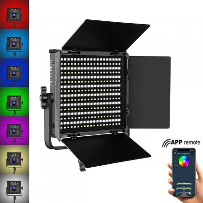GVM 50RS RGB LED Video Light Full Color 3200K~5600K Adjustable for Studio Photography with Barn-Door & Bag