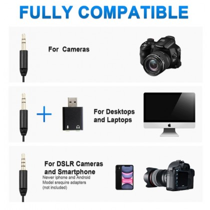 READY STOCK Original Boya BY-MM1+ BY-MM1 Plus Ultracompact Camera-Mount Shotgun Cardioid Microphone for Camera Smartphone PC Laptop