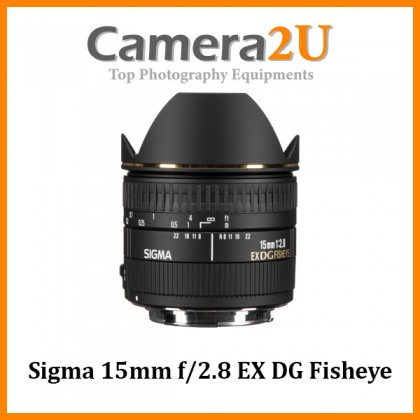 (Pre-Order) Sigma 15mm f/2.8 EX DG Fisheye Lens (Import)