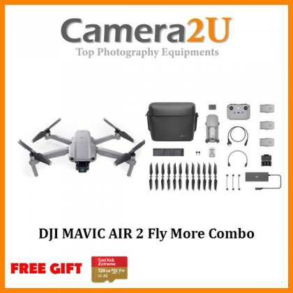 DJI Mavic Air 2 Standard / Fly More Combo FREE Sandisk Extreme 64GB Memory Card