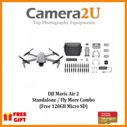 READY STOCK DJI Mavic Air 2 Standard / Fly More Combo FREE Sandisk Extreme 128GB Memory Card