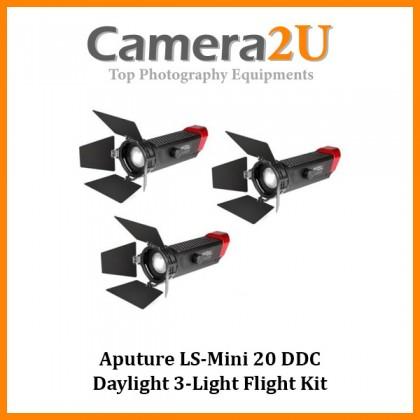 (Discontinues) Aputure LS-Mini 20 DDC Daylight 3-Light Flight Kit