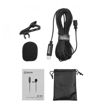 Boya BY-M3 BYM3 USB Type-C Omnidirectional Lavalier Microphone